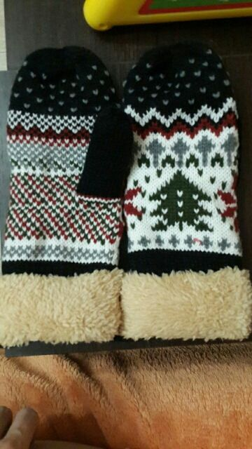 Интернет-магазин 6 Цветов женская Рождественская Елка Шаблон Двойной Слой Вязать Холтер Рукавицы Теплые Зимние Перчатки   Aliexpress для мобильных