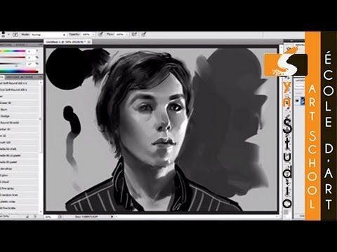 Syn Studio Digital Speed Painting Portrait (Quick Sketch) - Loïc #conceptart #illustration