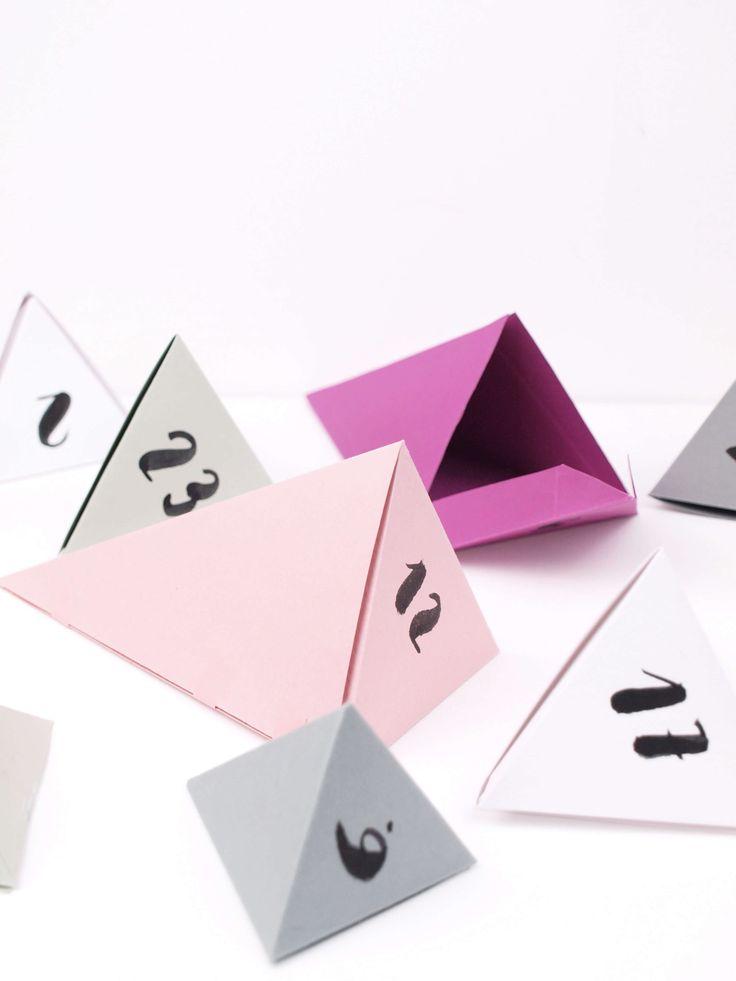 DIY Adventskalender aus Papier basteln