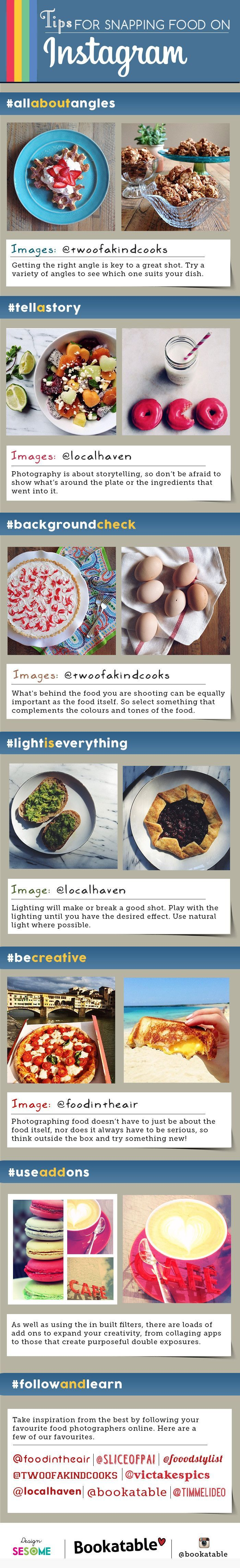 Tips For Snapping Food On Instagram   #Instagram #Food #SocialMedia - shared by http://ginastorr.com