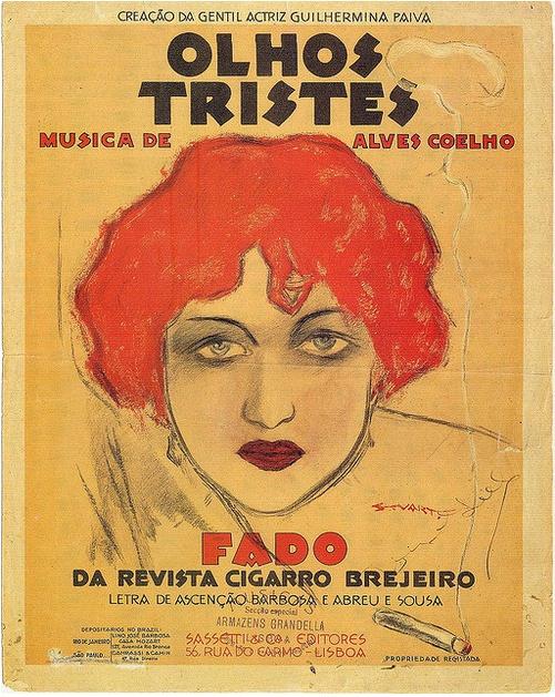By Stuart Carvalhais, 1 9 3 0s, Olhos Tristes, music sheet cover.