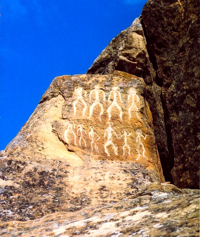 Petroglyphs in Gobustan, Azerbaijan, dating back to 10,000 BC indicating a thriving culture