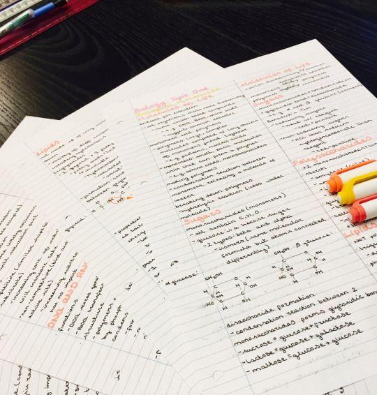 aquiries: First Biology exam didn't go so well so did a mass-revision session