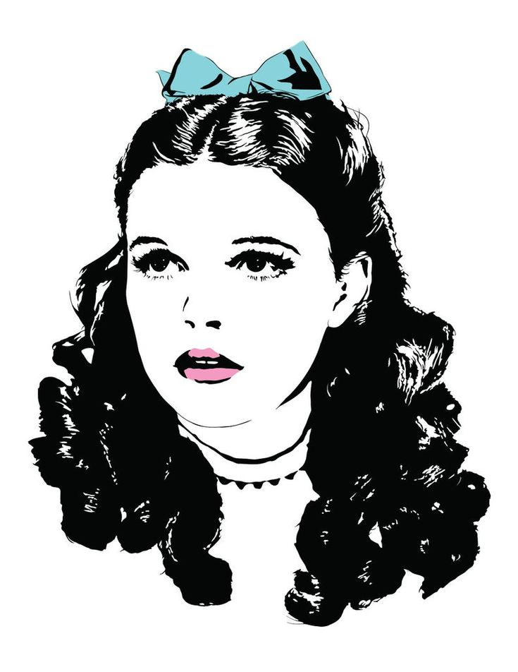 Judy garland art print illustration of dorothy from the