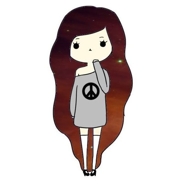 Tumblr Chibi Girls by banoffz on Polyvore featuring polyvore, fillers, chibi, drawings, art, pictures, doodle, backgrounds, scribble and chibis