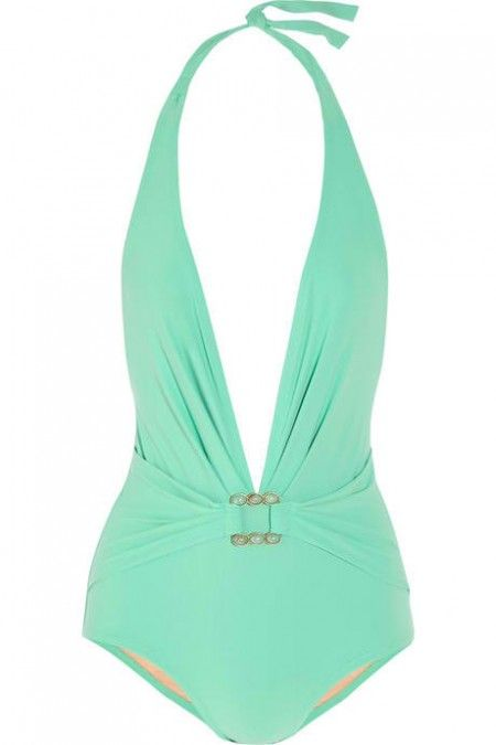 Mint Green Swimsuit  I really want to try a cute one piece!