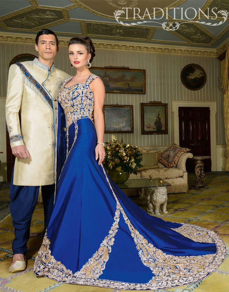 blue wedding dress for Indian and Pakistani brides