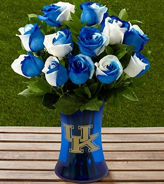 The FTD University of Kentucky Wildcats® Rose Bouquet -- not your colors but super cool! :)