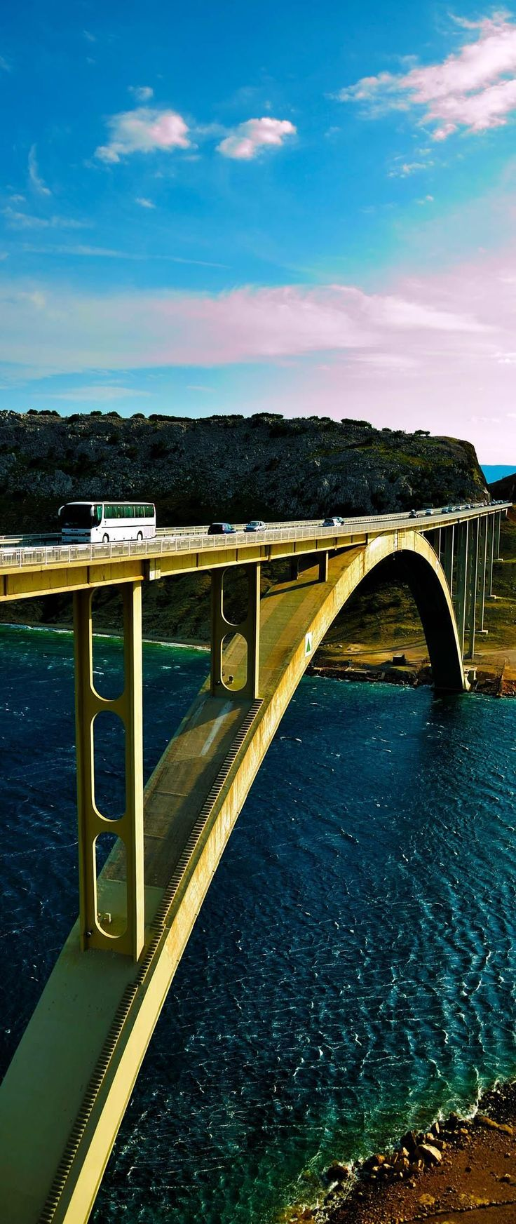 View on Beautiful Bridge over island Krk, Croatia | 15 Photos That Will Make You Fall in Love with Croatia