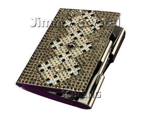 11 best bling business card cases images on pinterest business swarovski crystal business card case in black diamond bring this card case out and wait a minute then you will begin to hear where did you get that case colourmoves