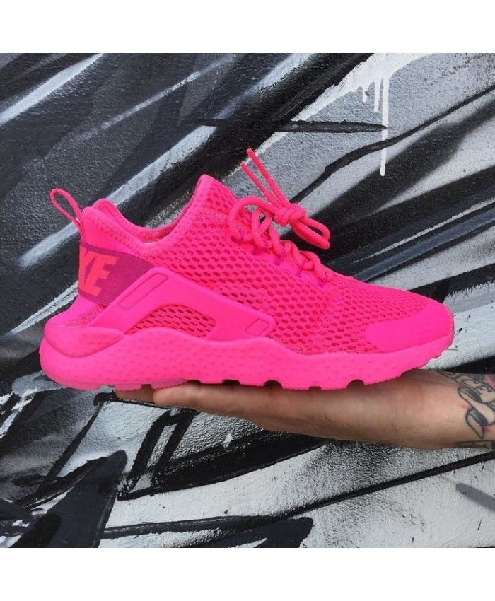 577d347c042ac Nike Air Huarache Ultra Breathe Pink Trainers