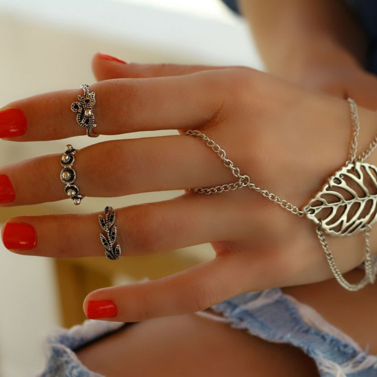 Finger Wrap Band Stacking Silver Knuckle Elegant Fashion Statement Mid Midi Ring #Takimania #Statement