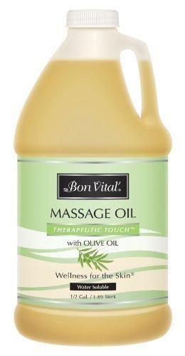 Bon Vital Therapeutic Touch Massage Oil 1/2 Gallon Bottle