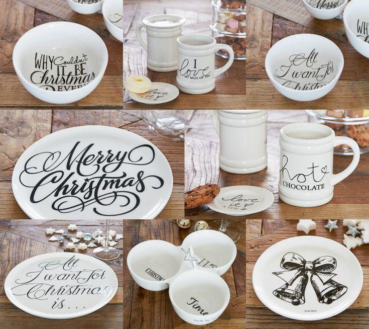 Zwart Wit is prachtig voor kerst! Zo ook dit servies van Riviera Maison. Doe inspiratie op voor een zwart-witte kerstversiering in huis op www.christmaholic.nl!
