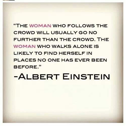 Don't be a woman who follows the crowd.  #weightloss #health #weight loss