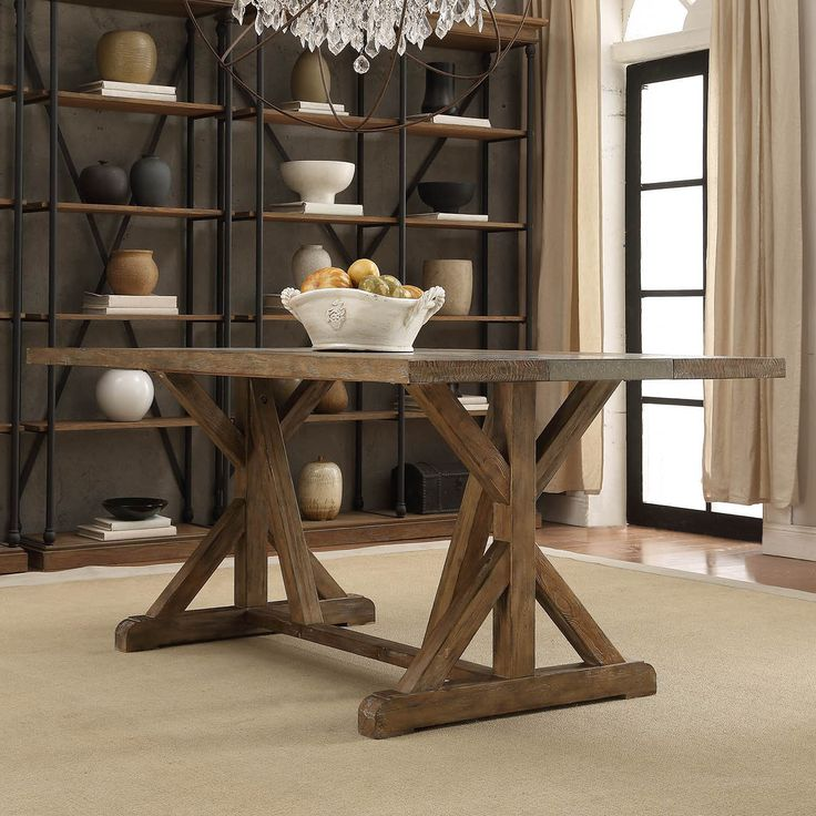 Benchwright Rustic Pine Concrete Accent Trestle Reinforced