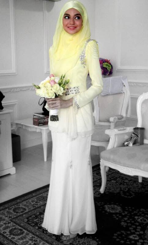 wedding dress ideas #hijab#muslimah fashion #PerfectMuslimWedding.com