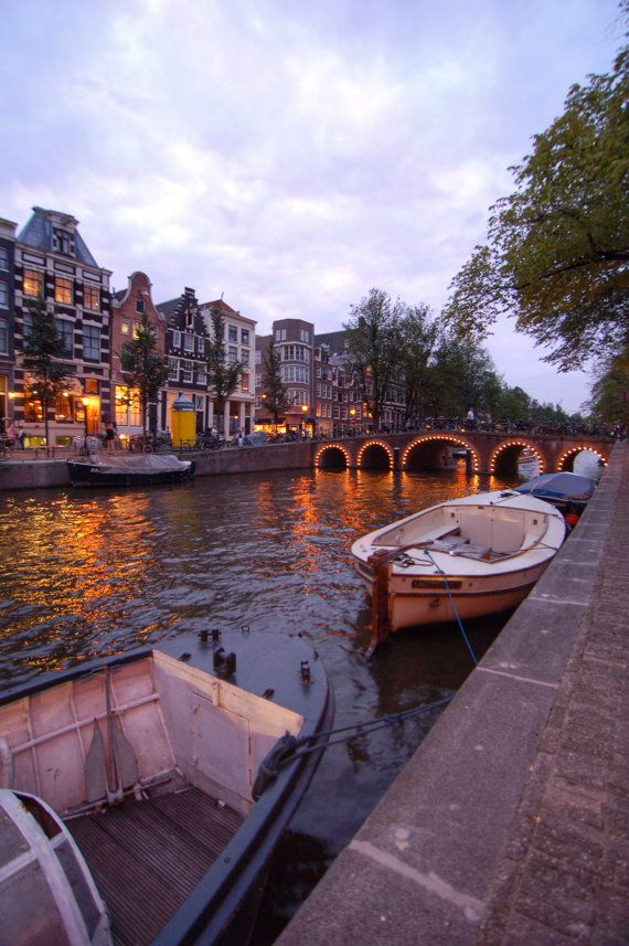Amsterdam Canal digital photo by BottegaDesigns on Etsy