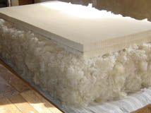 matelas laine avec bloc de latex
