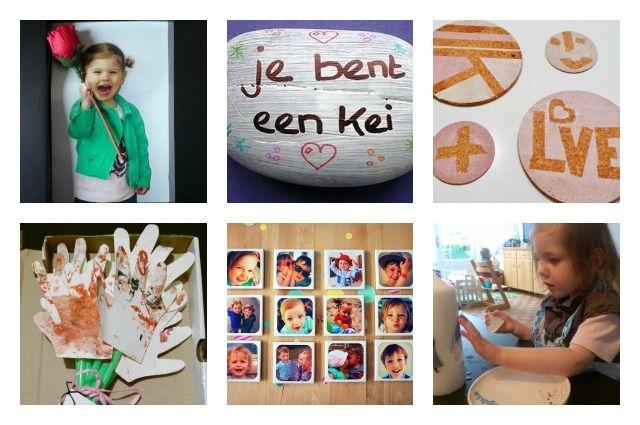 Een overzicht van de leukste en origineelste cadeautjes om door je kind te laten knutselen voor oma's verjaardag.