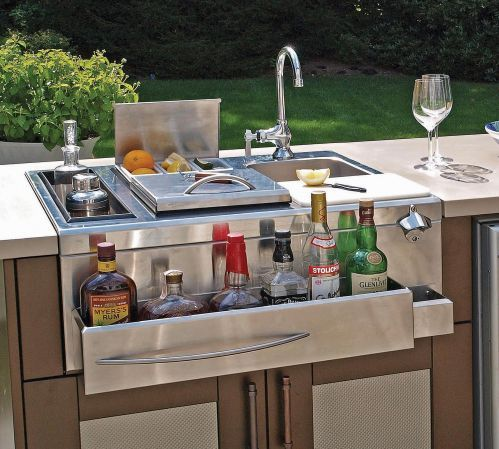 31 best images about outdoor kitchen on pinterest for Outdoor kitchen counter with sink
