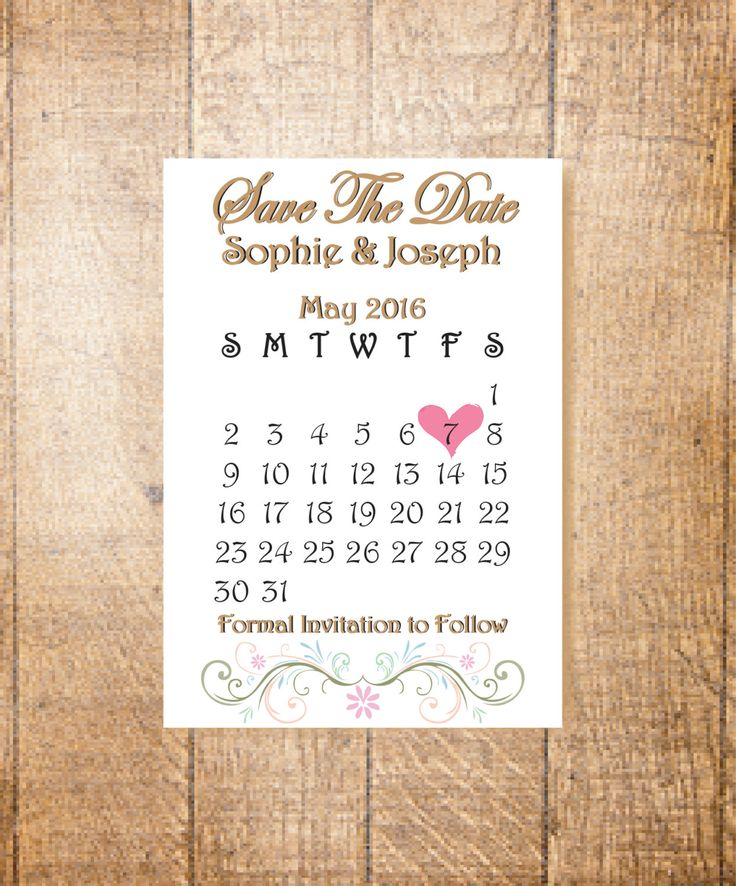 Save the Date Cards, Personalised, Hand Finished by LoobyDooLetters on Etsy