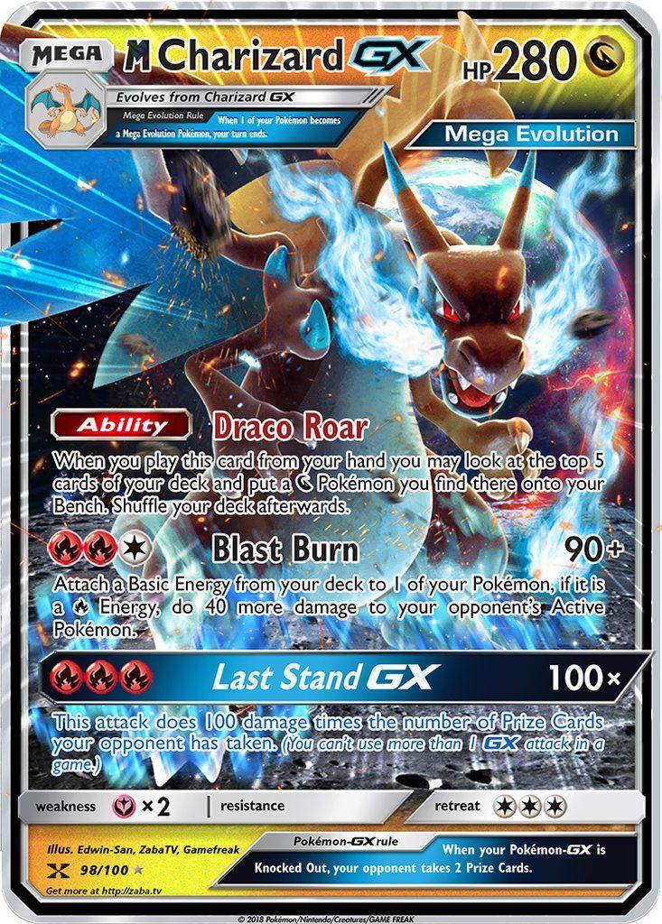 Mega charizard gx custom pokemon card pokemon cards