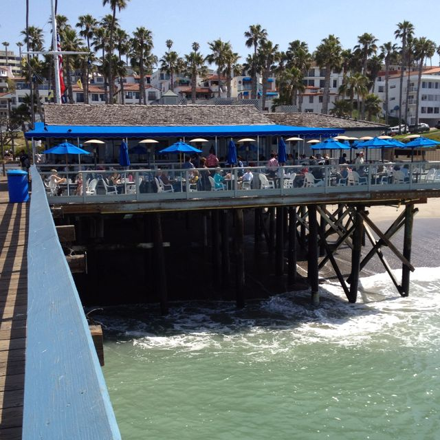 Fisherman's Restaurant, San Clemente Pier, CA - Amazing food and even better views. Try dining at sunset.