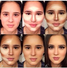 Make up tutorial for contouring and highlighting                                                                                                                                                      More