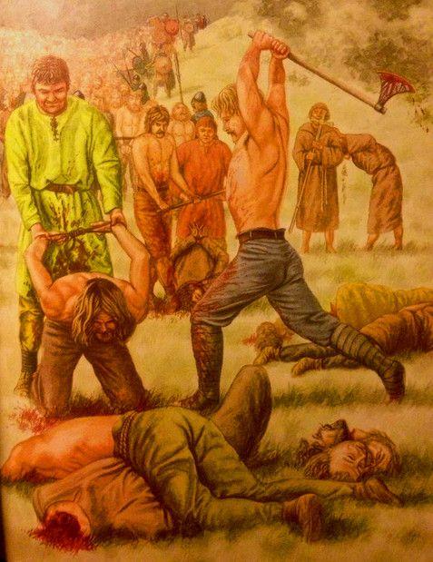 200 Vikings Beheaded By Muslim Abderrahman II After The Battle Of Tablada August