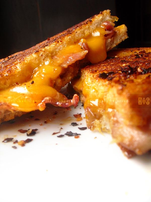 Grilled Sharp Cheddar Cheese, Peanut Butter, and Smoked Bacon Sandwich ...