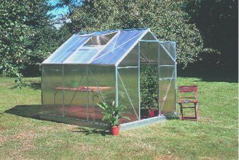 Juliana Greenhouse Basic 450 w/ Base by Juliana Greenhouses. $790.20. Juliana Basic Greenhouse Series Incredible Value with Unmatched Quality This revolutionary design uses no silicone or clips to fasten the polycarbonate panels. The panels simply insert into the aluminum frame for added structural support and durability. Juliana Basic greenhouses are ideal for people with limited space in the garden. All kits include a single sliding door and adjustable window vent for ventilat...