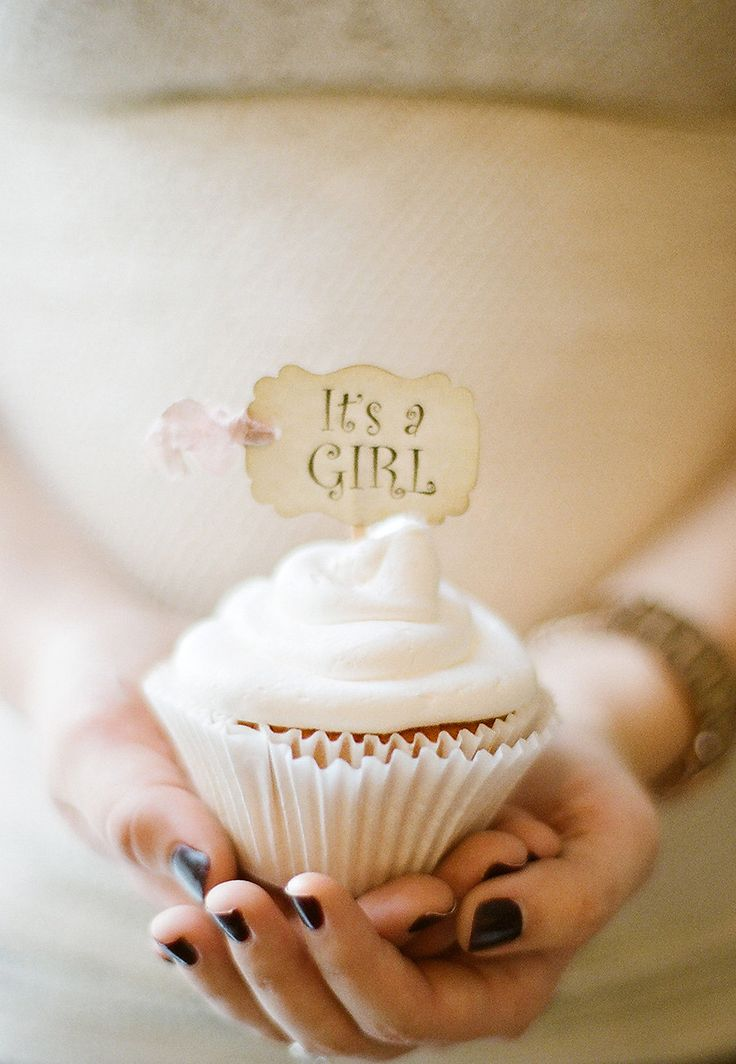 It's a Girl Cupcake Cake Slice Toppers Baby Shower Party Picks - Set of 18