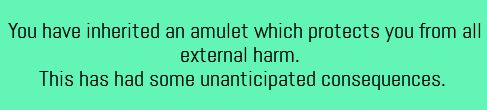 Writing Prompt What does the amulet consider to be harmful?
