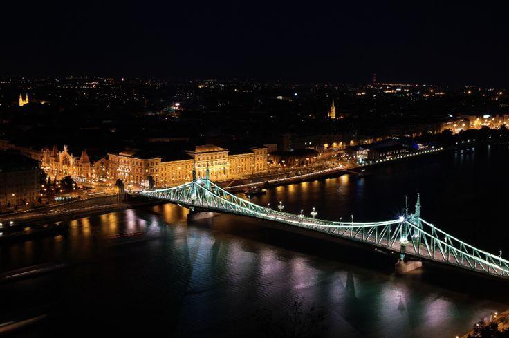 Liberty bridge at night :: Budapest :: photo by Riccsi (Richárd Sárközi)