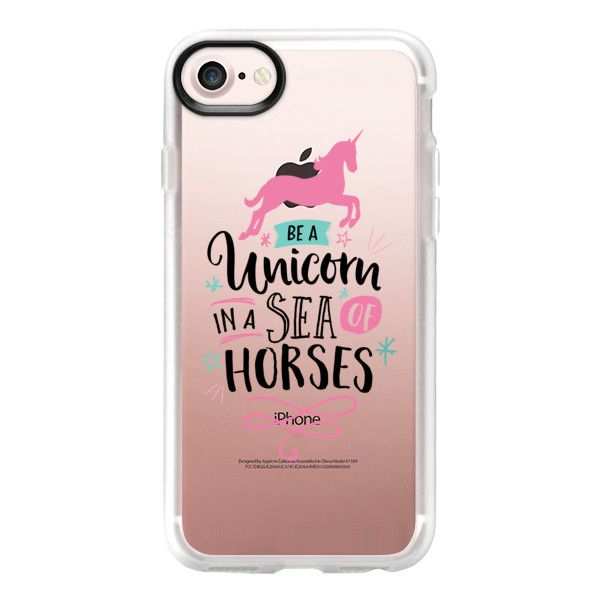 Be a unicorn - iPhone 7 Case And Cover (533.050 IDR) ❤ liked on Polyvore featuring accessories, tech accessories, iphone case, unicorn iphone case, apple iphone case, iphone cases and clear iphone case