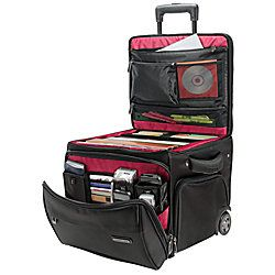 """Ativa® Mobil-IT Ultimate Workmate - Designed to keep business supplies handy and organized. Includes, pocket storage for your laptop, phone, portable hard drive, MP3 player, digital camera, ear buds, pens, business cards and more. Interior compartment for folders, 9"""" side pockets. Plus, a zippered pocket on front for extra papers, magazines or files. Double top zipper allows you to lock bag for ultimate security.  Telescoping handle.  Sturdy handles on each side make lifting easier. $144.99"""