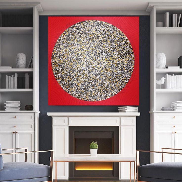 Patlama - 8 (Explosion - 8) by Gülçin Aslandoğan Tuval üzerine #Akrilik ve Karışık Teknik / Acrylic and #MixedMedia on #Canvas 120cm x 120cm 6.000₺ / 1.750$  #gallerymak #sanat #resim #ressam #icmimari #artgallery #evdekorasyonu #ig_sanat #contemporaryart #soyut #tasarım #abstractpainting #acrylicpainting #abstractexpressionism #interiordesign #painting #modernarchitecture #mimar #artcollector #artlover #dekorasyon #artoftheday #fi