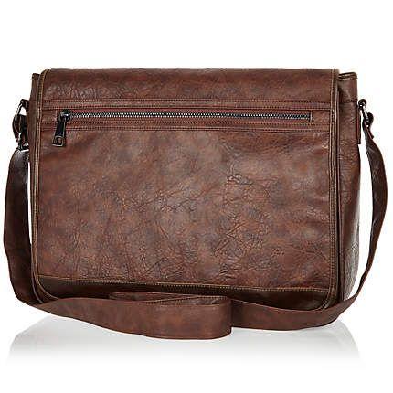 Brown mottled flap over messenger bag £20.00