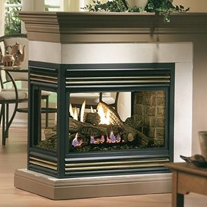 Natural Gas 2 Sided Fireplace Kingsman Mdv31 Multi Sided