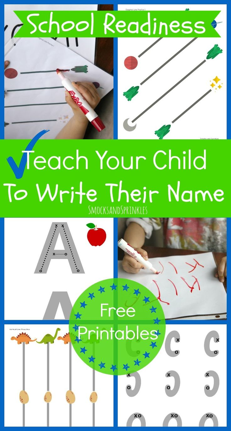 Smocks and Sprinkles: School Readiness | Writing Your Name with free printables