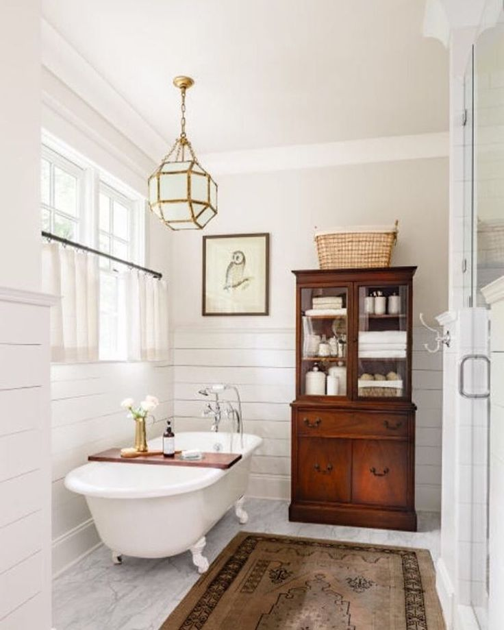 """On my #currentcrushlist: finding new ways to use old furniture. I posted yesterday about my vintage buffet turned powder room vanity. I love using antique…"""