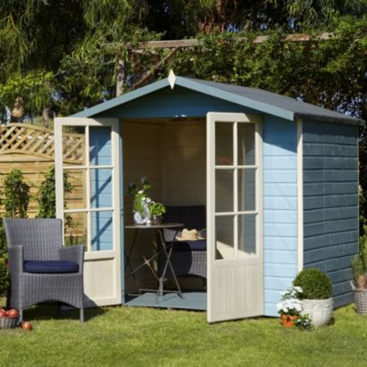 lumley shiplap wooden summerhouse with toughened glass windows home delivered with assembly base 5019804210282 b and q potential reading room - Garden Sheds Reading