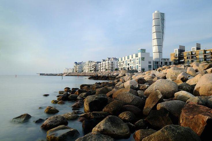 Turning Torso von Architekt Santiago Calatrava in Malmö in in Västra Hamnen