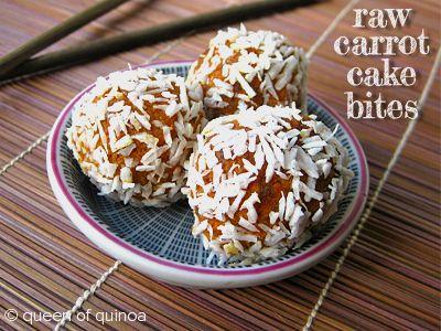 Carrot Cake Bites via Queen of Quinoa (@Alyssa | Queen of Quinoa)