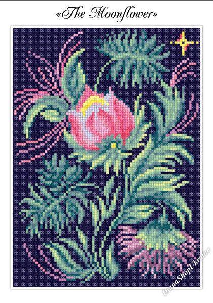 The Moonflower  Cross Stitch Pattern PDF  by DianaShopUkraine