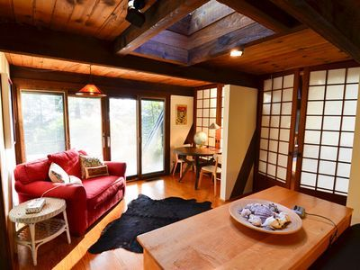 Westgate-Japanese A-Frame - Ocean Views, Hot Tub, Large Deck, Privacy. An Asian theme inspired the original owners of this home in the 1960's. It was refurb...