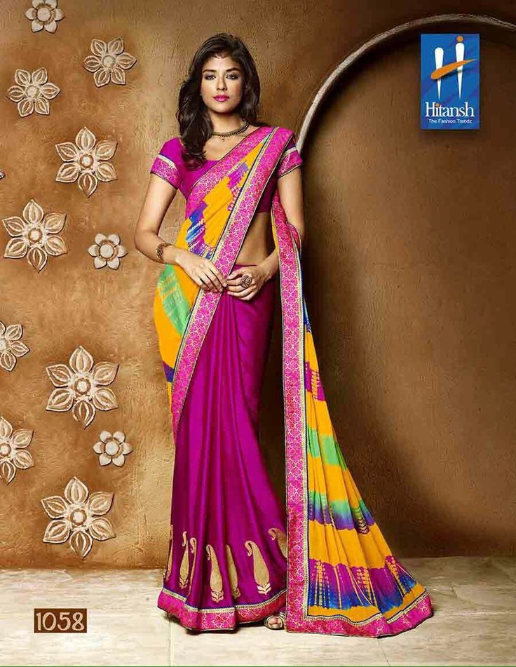 """""""Weekend saree sale"""" Pls call/whatsapp +919600639563. Code: wss htdrkpnk Price: Pls inbox/whatsapp Material: Georgette saree with attached blouse. For booking and further details pls call or whatsapp us at +919600639563. Happy shopping y'all :) Be Beautiful :)"""