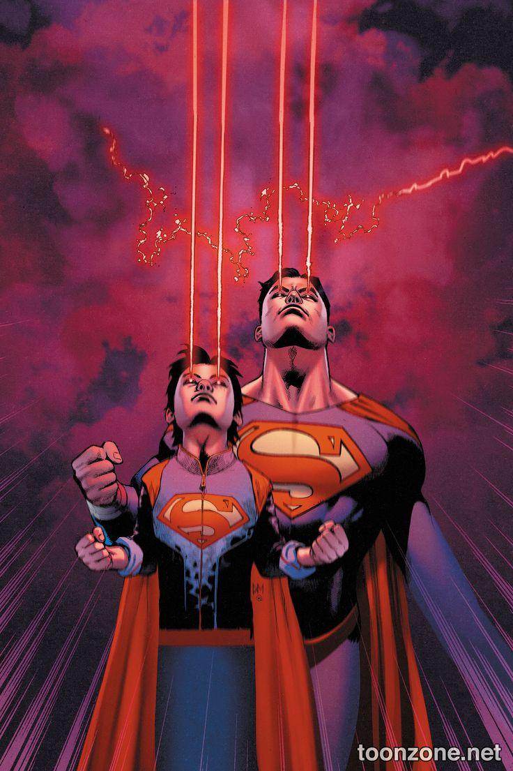 Superman and Superboy Like Father Like Son