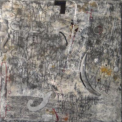 Walter Rast, Les Bijoux I Gemengde techniek op doek 100 x 100 cm, 2008